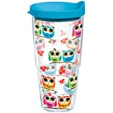 Tervis Tumbler, Owls, 24 oz with Travel Lid, Clear