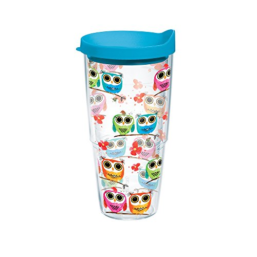 tervis tumbler owls 24 oz with travel lid clear - Tervis Tumblers