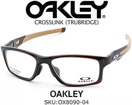 3a197eb1da0 Oakley CROSSLINK® (TRUBRIDGE™) OX8090-0453 Polished Root Beer Sports  Eyeglasses for Men Women