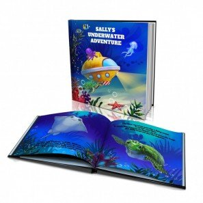 Personalized Story Book by Dinkleboo -The Underwater Adventure - For Kids Aged 0 to 8 Years Old - A Story About Exploring The Sea And Meeting Sea Creatures - Soft Cover (8
