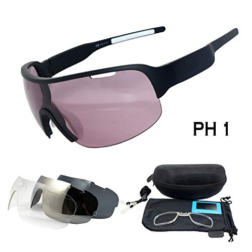 4 lens Polarized Outdoor Cycling Glasses Bike Bicycle Goggles Sport Cycling Sunglasses Men Cycling ()