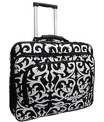 Ladies Damask Rolling Computer Laptop Bag Brief Case -- FITS A 13