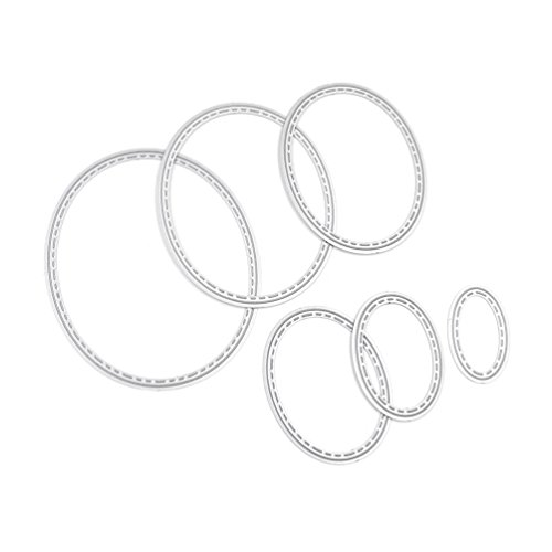 We-buys Cute Oval Circle Set Cutting Dies Set Metal Stencil Template Block DIY Paper Card