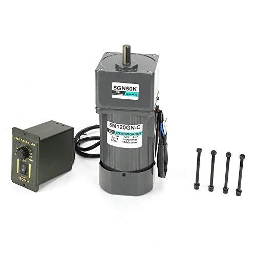 CHENBIN-BB ギアモーター、ギアボックス知事ギアリダクションモーター付きAC 220V 120Wを1500rpmアジャスタブルRtae CW/CCWモーターホームデバイスInduastiralアプリケーション(5GN50K)について