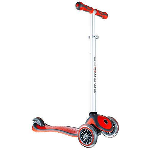globber-3-wheel-adjustable-height-scooter-red-gray
