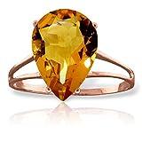 ALARRI 5 Carat 14K Solid Rose Gold Sensuality Citrine Ring