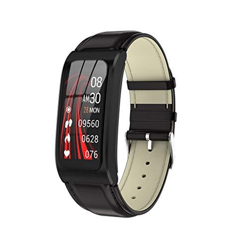 AK12 Smart Bracelet Watch 1.14 Inch Color Screen IP68 Waterproof Blood Pressure Monitor Sport Fitness Training Calorie Consumption Tracker Health Monitoring Smartwatch (F)
