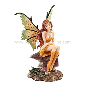 Pacific Giftware New 2013 Amy Brown Fantasy Little Mae Faery Mushroom Fairy Statue Enchanted 6 H Figurine
