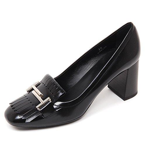 Nero Black Decollete T Donna doppia Woman Tod's Shoe D0386 Frangia Scarpa tqp4vn