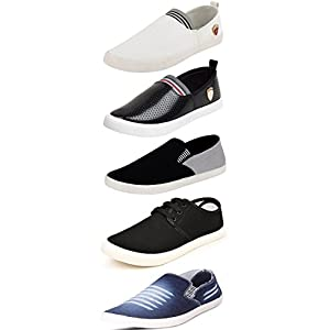 Maddy Men's Mesh Combo Pack of 5 Loafer and Moccassin