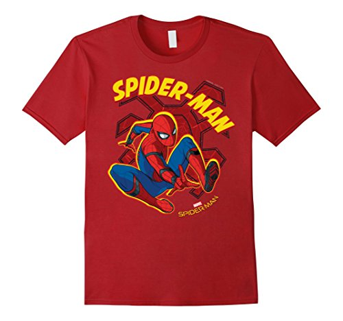 Mens Marvel Spider-Man Homecoming Two-Legged Spider T-Shirt 3XL Cranberry