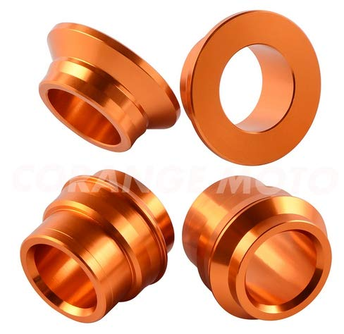 CFUSMOTO Motorcycle CNC Billet Aluminum Alloy Front Rear Wheel Spacer Hub Collars For KTM 125 150 200 250 300 350 400 450 SX SXF SX-F 2015-2018