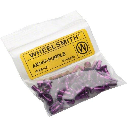 Wheelsmith Alloy Nipples (Pack of 50), Purple, 20x12mm