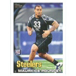 2010 Topps #127 Maurkice Pouncey RC - Pittsburgh Steelers (RC - Rookie Card)(Football Cards)