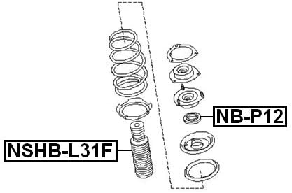 FEBEST NSHB-L31F Front Shock Absorber Boot