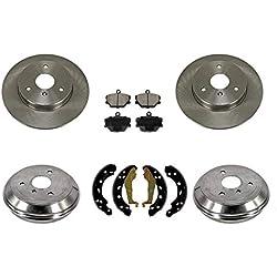 05-14 Smart Car Smart Fortwo FRT & RR Brake Rotors Drums Brake Pads Shoes