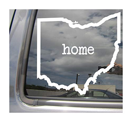 Right Now Decals Ohio State Home Outline - OH Columbus The Buckeye State USA America - Cars Trucks Moped Helmet Hard Hat Auto Automotive Craft Laptop Vinyl Decal Store Window Wall Sticker 07026