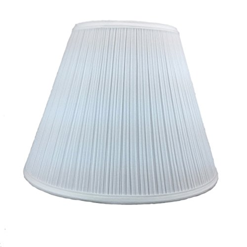 8x16x12 Empire Hardback Lampshade White Shantung Mushroom Pleat with Brass Spider fitter By Home Concept - Perfect for table lamps and some desk lamps -Medium, White - Mushroom Shade Table Lamp