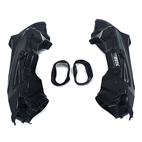 An Xin Motorcycle Black Ram Air Intake Tube Duct Left Right Fit For Suzuki GSXR1000 09-15 K9: