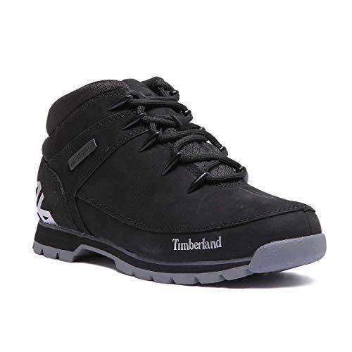 Timberland Mens Euro Sprint Hiker Nubuck Jet Black Boots 10 US