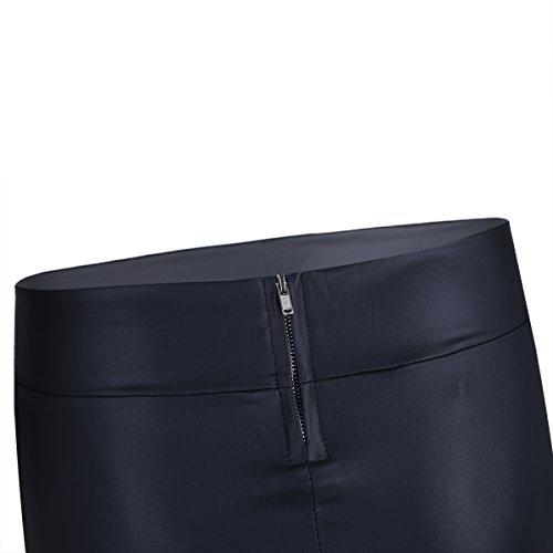 CHICTRY Falda Mujer de Cuero PU de Lápiz Sexy Cintura Alta Atractiva Mini  Falda Corta de Charol Elegante Negra para Fiesta Casual(S-XXXL)  Amazon.es   Ropa y ... 3e1da15473ca