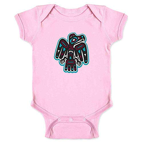 (Native American Thunderbird Eagle Totem Symbol Art Pink 12M Infant)