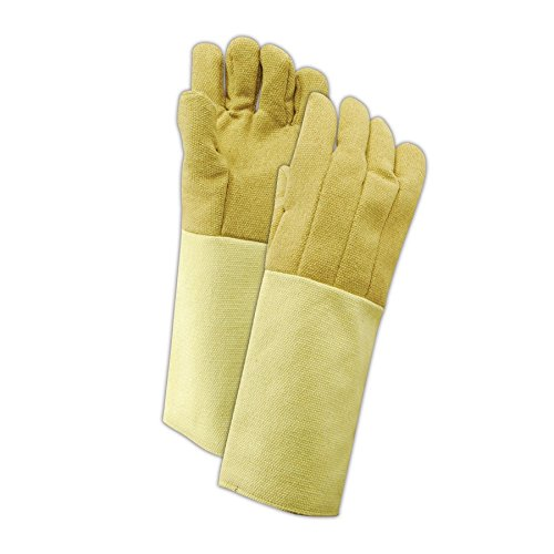 Magid Glove & Safety KB1318WL Magid Kevlar /PBI High Heat Gloves, Medium, Tan , Men's (Fits Large) by Magid Glove & Safety