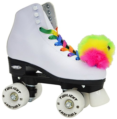 Epic Skates Allure09 Light-Up Quad Roller Skates, White