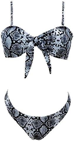 Bikini mit Schlangenhaut-Motiv L L