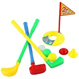 9pcs Plastic Golfer Set Educational Toys for Toddlers Kids Children Outdoor Indoor Golf Sport Supplies