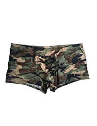 CZXING Sexy Boxer Shorts for Men Camouflage Breathable Underwear
