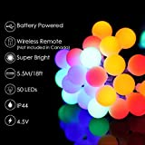 ALOVECO LED String Lights, 18ft 50 LED Battery