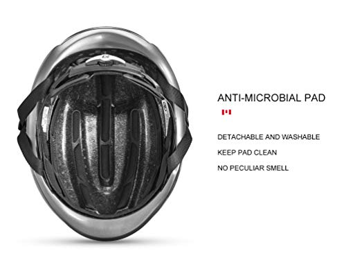 ROCK BROS Aero Road Bike Helmet TT Triathlon Aero Cycling Helmet Adjustable M L for Road Race Mountain Bikes Men Women
