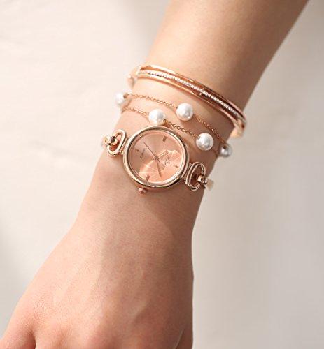 Xinge Women S Rose Gold Watch Set Quartz Jewelry Bangle