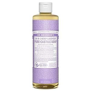 Dr Bronner Castile Soap Organic Lavender 16 oz ( Multi-Pack)