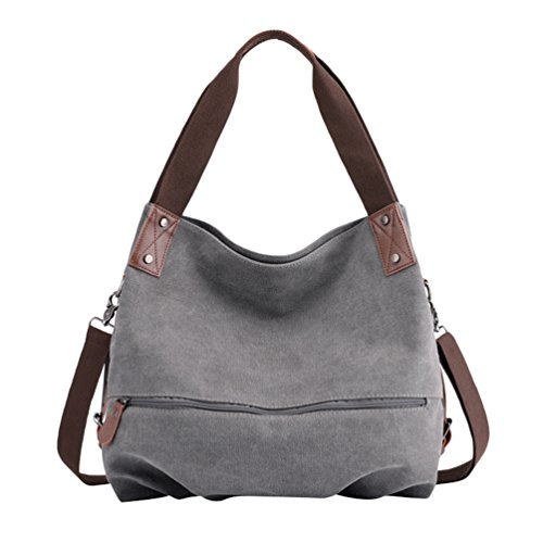 Gray Large Gray Shopper Shoulder Vintage Handle Bags Bag Womens Top Handbag Handbags ZKOOO Crossbody Tote Canvas ZfRww