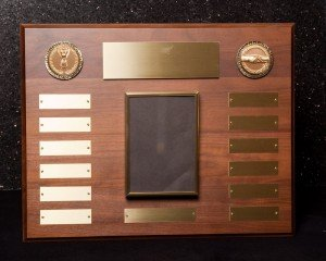 Walnut Perpetual Plaque with Frame