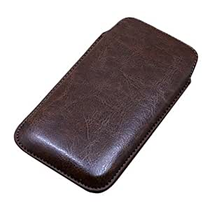 13Colors PU Leather Pull Tab Pouch Phone Case Cover for Samsung Galaxy S4 I9500 --- COLOR:Brown