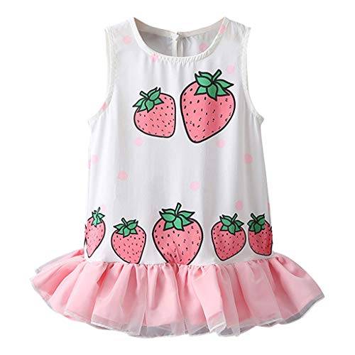 - 1-7Y Summer Cherry Strawberry Print Lace up Women Skirt Sweet Lace Patchwork Skirts Causal A Line Mini Skirt Female