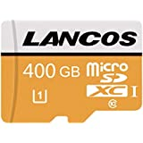 LANCOS 400GB Micro SD Card High Speed Memory Card Class 10 Micro SD SDXC Card with Free Adapter