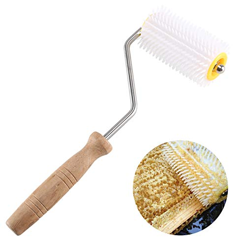 ETSAMOR Uncapping Needle Roller Plastic Honey Extracting Tool with...