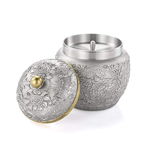 Royal Selangor Hand Finished Straits Expression Collection Pewter Peony Tea Caddy by Royal Selangor (Image #2)