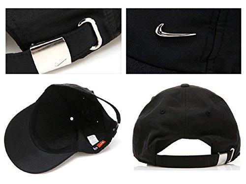 Métallique Nike Swoosh Noir argent Réglable Casquette wU4vUqz1R