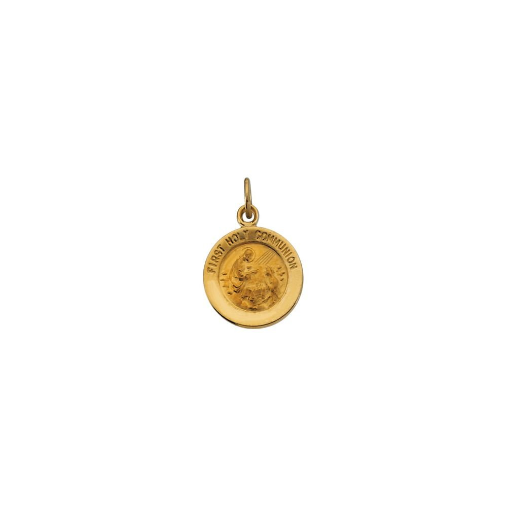 Jewels By Lux 14K Yellow Gold 12mm First Communion Medal