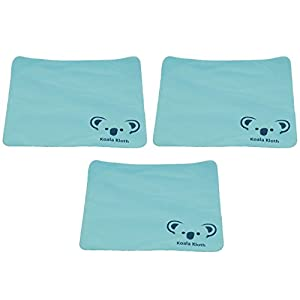 Koala Kloth Microfiber Cleaning Cloth | Jumbo XL Size | Perfect for Large TV and Computer Screen Cleaning | Safe for All Surfaces | Lint Free | USA Made | 3 Pack, 12x12 Inch, Turquoise