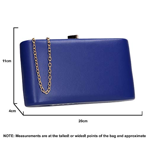 Heart Womens Royal Ruth Prom SWANKYSWANS Party Love Box Clutch Bag Blue 4fxHHwgqE