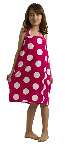 (byLora Terry Cotton Shower Wrap Fuchsia, Small)