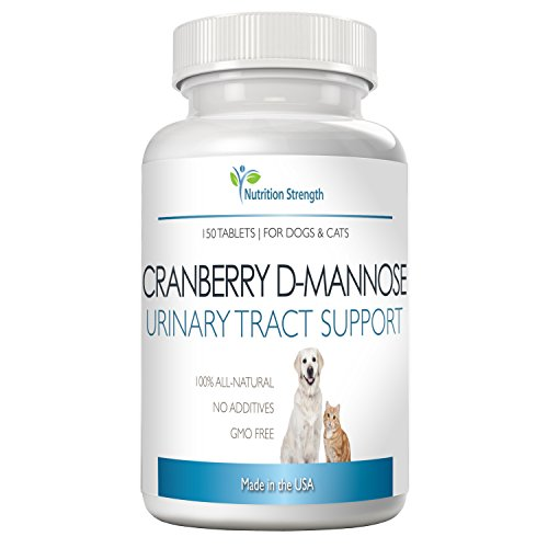 Nutrition Strength Cranberry for Dogs and Cats, Support for UTI in Dogs, Urinary Tract Plus Immune Health Supplement, Support for Bladder Infection in Dogs, D-Mannose for Dogs, 150 Chewable Tablets
