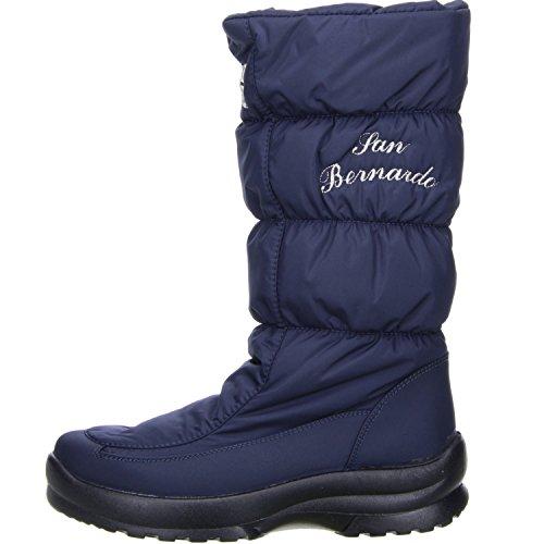 San Bernardo Damen Winterstiefel Snowboots Blau Blau