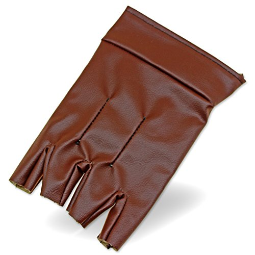 Assassins Creed Costume Altair (Steampunk Single Glove Open Finger Left Handed Felt-Lined Pleather)